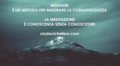 MEDITARE - LA MEDITAZIONE